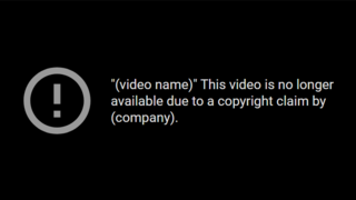 YouTube copyright strike Website policy action