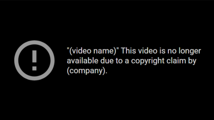 A copyright strike on YouTube YoutubeCopyrightStrike.png