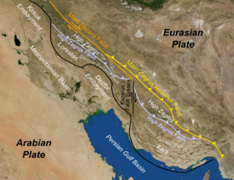 Zagros fold and thrust belt - Main structural features of the Zagros fold-thrust belt
