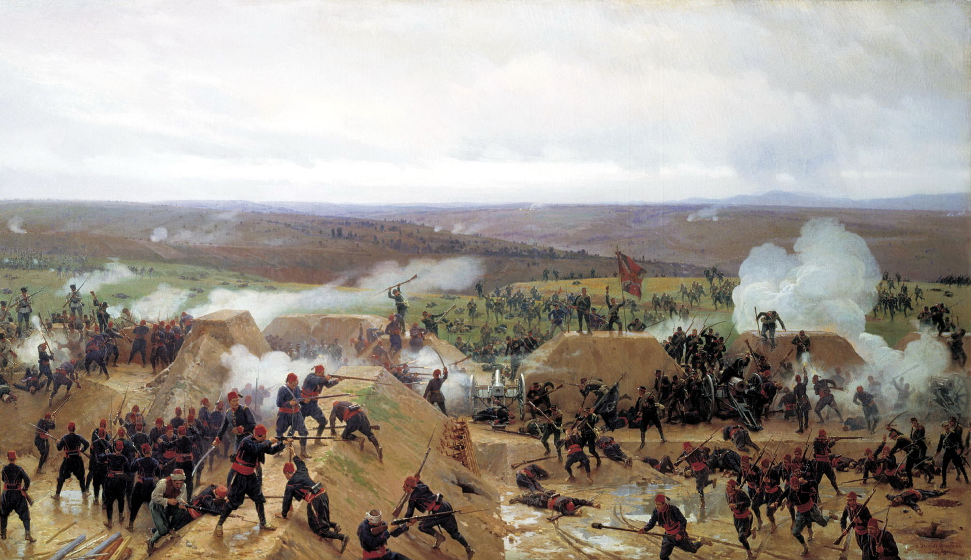 Николай Дмитриев-Оренбургский. «Захват Гривицкого редута под Плевной» (1885)
