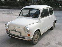 Una Zastava 600/750/850-versione jugoslava della Fiat 600