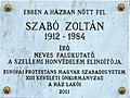 Zoltán Szabó plaque Bp13 Visegrádi43-45.jpg