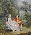 """Conversation dans un parc"", Thomas Gainsborough, vers 1746-1747. (23355415533) (2).jpg"