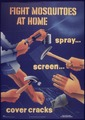 """Fight Mosquitoes at Home Spray - Screen - Cover Cracks"" - NARA - 514248.tif"