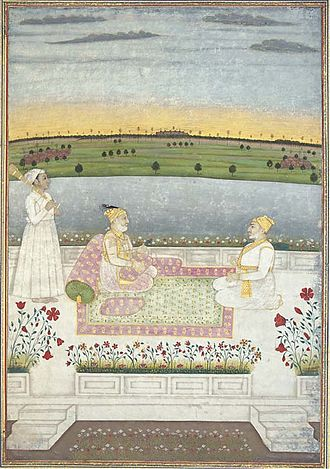 Alivardi Khan - Alivardi Khan with a courtier