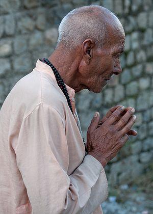 Bhakti yoga - Bhakti yoga by a Hindu in Himachal Pradesh.