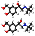 (R)- and (S)-salbutamol ball-and-stick models.png