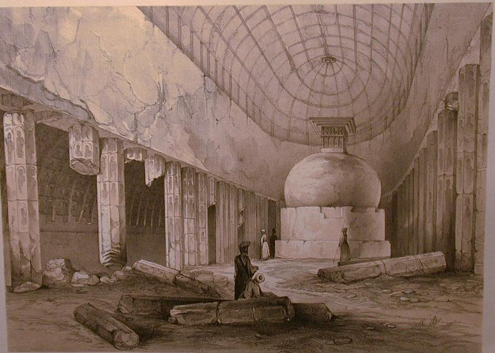 *Plate 3* == Ajunta-- Interior of Chaitya Cave, No. 10