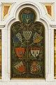 Écussons au dos du maître-autel de l'église Saint-Aubin en Notre-Dame-de-Bonne-Nouvelle, Rennes, France.jpg