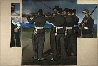 The Execution of Emperor Maximilian - The Execution of Emperor Maximilian (1867–68), oil on canvas. National Gallery, London