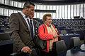 Édouard Martin et Catherine Trautmann Parlement Européen Strasbourg 4 mai 2014 01.jpg