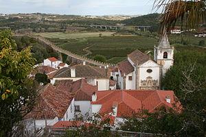 Óbidos, Portugal - Top view of the Santa Maria