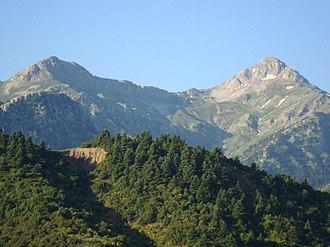 Mount Erymanthos - Two peaks of Erymanthos.