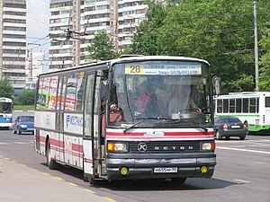 Khimki - Image: Автобус Зетра Юбилейный проспект Химки