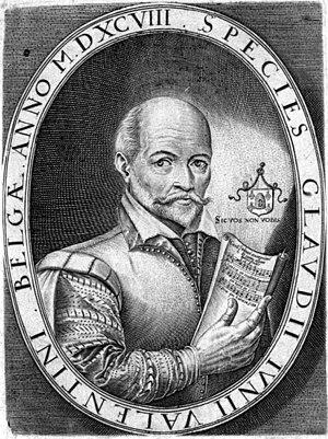 Claude Le Jeune - Claude Le Jeune; engraving in his Dodécacorde (1598, La Rochelle)