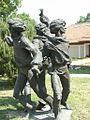 Латвия (Latvija), Цесис район (Cēsu rajons), Валмиера (Valmiera) (Bruņinieku iela), скульптура валмиеровских мальчиков (skulptūra Valmieras puikas), 12-23 - panoramio.jpg