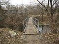 Мостик на Жуков остров из Чапаевки - A foot bridge to the Zhukov island from Chapayevka - panoramio.jpg