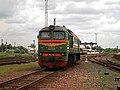 М62-1588, Беларусь, Минская область, станция Слуцк (Trainpix 81919).jpg
