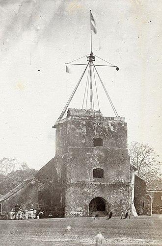 Vypin lighthouse - Image: കൊച്ചിയിലെ ലൈറ്റ് ഹൗസ് (1850 97)