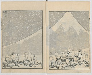 <i>One Hundred Views of Mount Fuji</i> Series of illustrated books by Hokusai