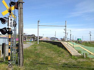 Tōna Station - Abandoned platform in May 2013
