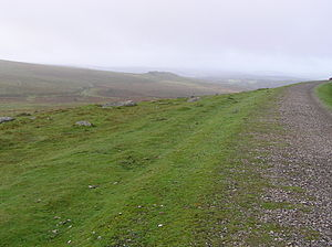 Plymouth and Dartmoor Railway - Near Foggintor looking south-west to the lower alignment