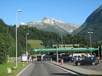 A2 motorway (Switzerland) - Service area Stalvedro in Ticino.