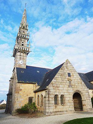 Milizac - The parish church in Milizac