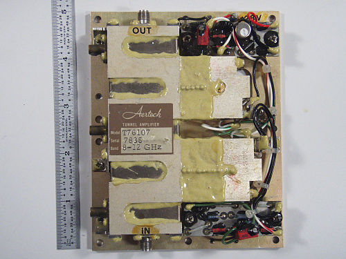 8-12 GHz tunnel diode amplifier, circa 1970 10Gig Tunnel Amp M.jpg