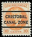 10 cents, Canal Zone precancel 1928 (cropped).jpg