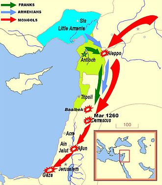Battle of Fariskur - The 1260 Mongol offensive reached the border of Egypt.