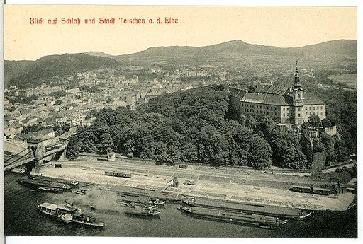 13369-Tetschen-1911-Stadt und Schloß-Brück & Sohn Kunstverlag