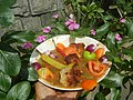1393Mung bean soup and siomai in bilimbi, tomatoes, chili and onions 03.jpg