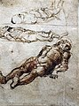 1460 Mantegna Drei Studien für den toten Christus British Museum anagoria.jpg