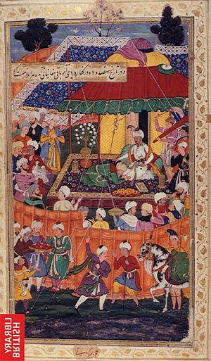 Chagatai people - Baqi Beg Chaghtai, pays homage to Babur.