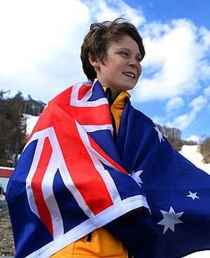 Australia at the 2014 Winter Paralympics - Ben Tudhope was given the honour of carrying the flag for Australia at the Closing Ceremony