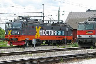 NSB El 15 - Hector Rail Hr 161.106.0 at Hallsberg, Sweden