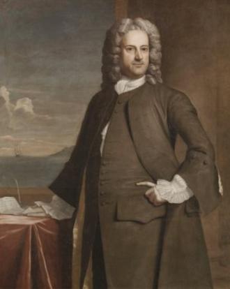 Charles Apthorp - Portrait of Charles Apthorp, 1748 (by Robert Feke)