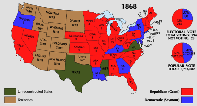 United States presidential election 1868 Wikipedia