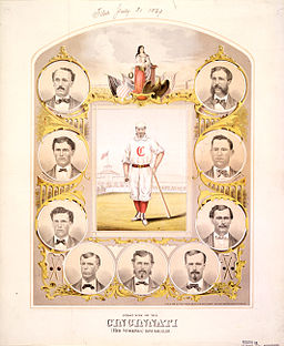 1869 Cincinnati Red Stockings lithograph