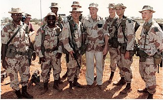 87th Infantry Regiment (United States) - 1-87th Infantry with President George Bush