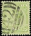 1887ca 1d Victoria oval 42 Yv96 Mi101 SG312a yellow-green.jpg