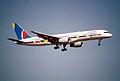 188ah - Air 2000 Boeing 757-28A; G-OOOC@PMI;20.08.2002 (5702849496).jpg