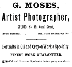 1894 G Moses photographer advert New Orleans.png