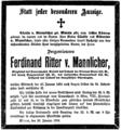 1904-01-20 Ferdinand Ritter von Mannlicher (statt jeder besonderen Anzeige).png
