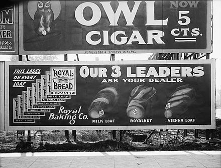1908 billboard, Salt Lake City, Utah 1908 Billboards - Owl Cigar and Royal Bread.jpg