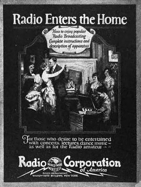 1922 Radio Enters the Home cover
