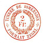 1927 Timbre de dimension 2Fr.jpg