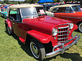 1951 Willys Jeepster 4-cylinder in red and black with white top at 2015 Macungie show 1of5.jpg