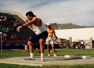 Randy Barnes - Barnes at the UTEP Sierra Medical invitational meet in 1994